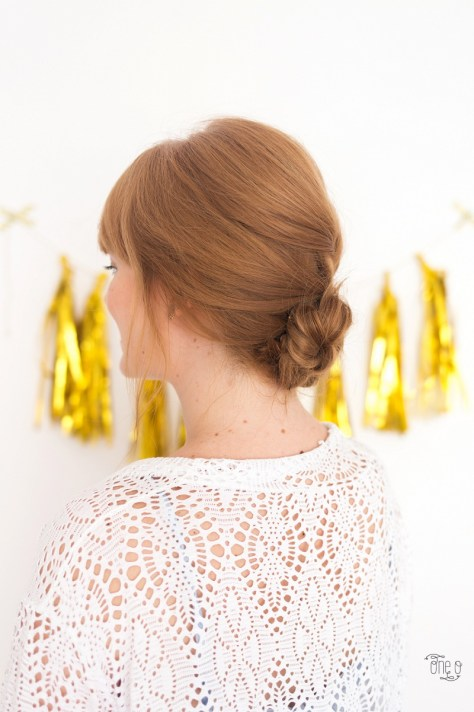 Low Chignon French Braid