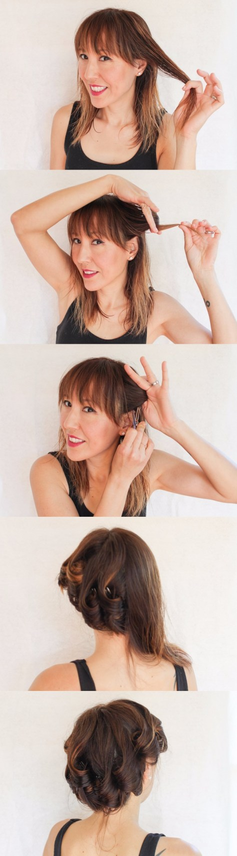Modern Pin Curls Tutorial