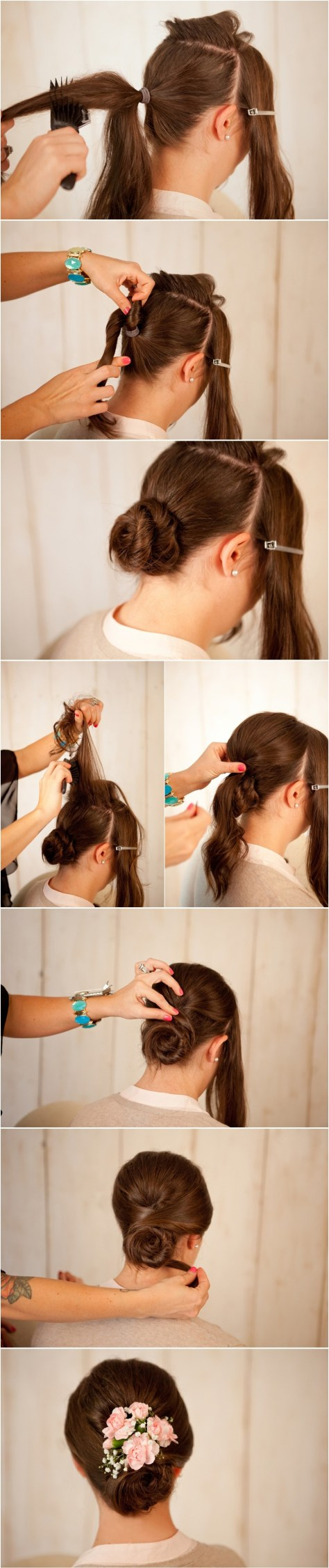 Rose Bun Tutorial