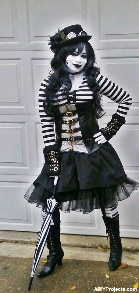 SteamPunk Mime Halloween Costume
