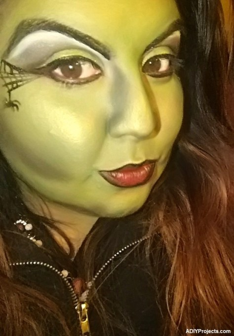 Wicked witch Halloween Makeup Tutorial