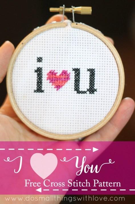 I Heart Cross Stitch Pattern