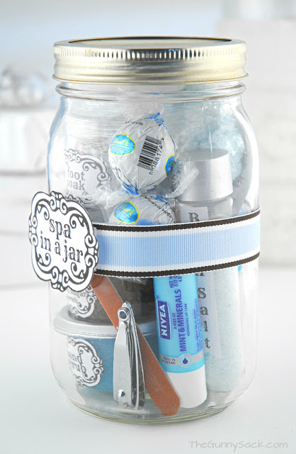Fill A Mason Jar With Travel-Sized Beauty Products
