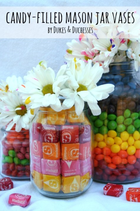 Candy Filled Mason Jar