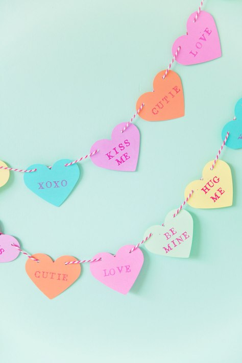 Candy Heart Garland