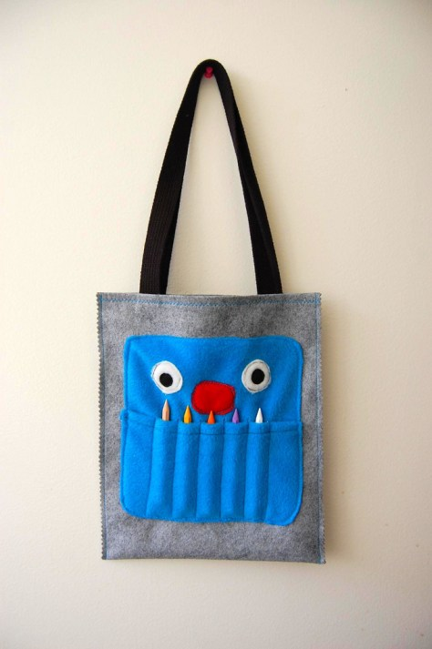 Crayon Monster Art Tote