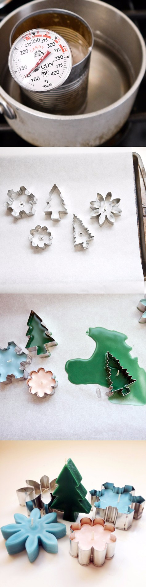 DIY Cookie Cutter Candles