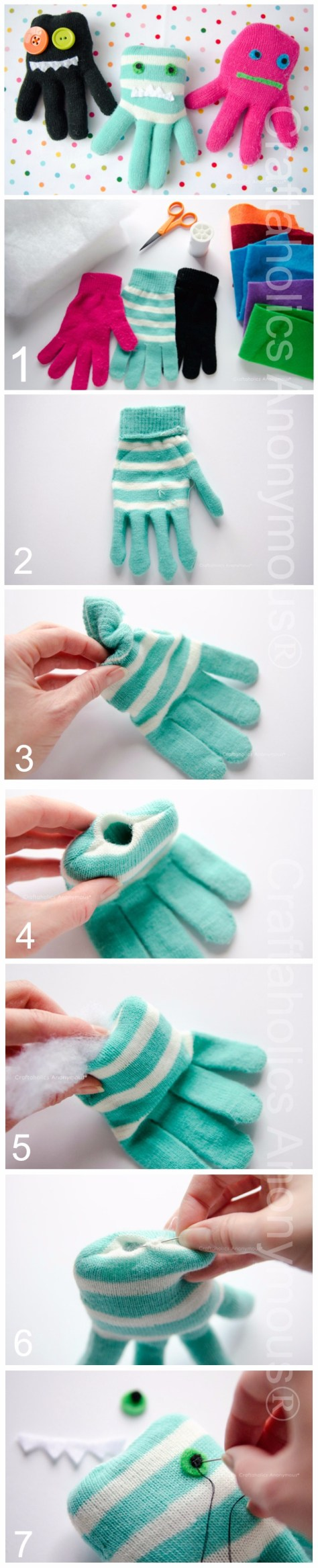 DIY Monsters Glove