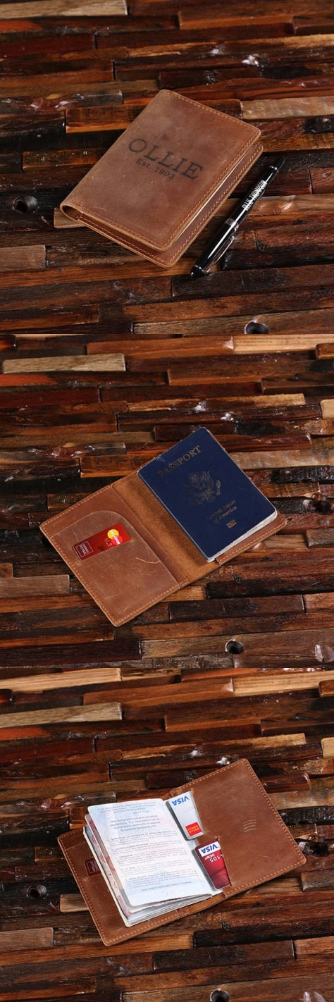 Engraved Leather Passport