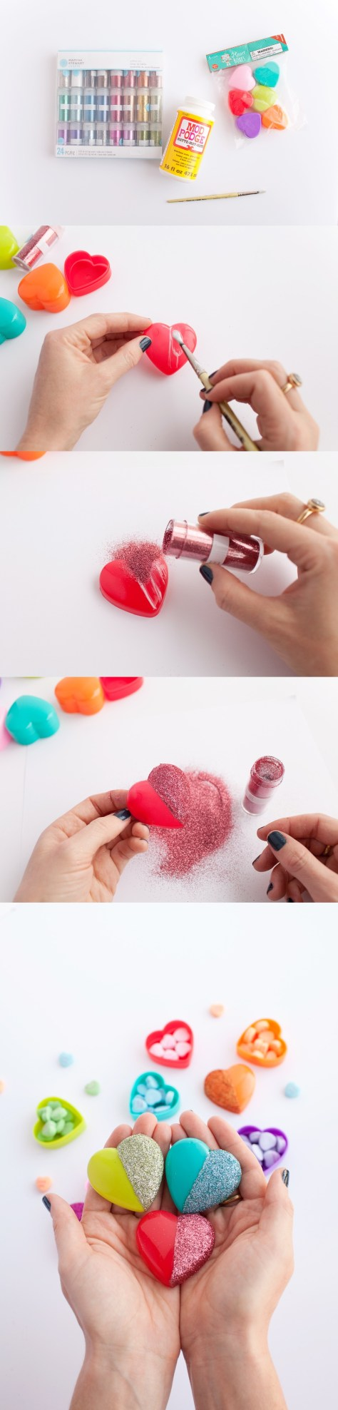 Glitter Heart Candy Boxes Tutorial