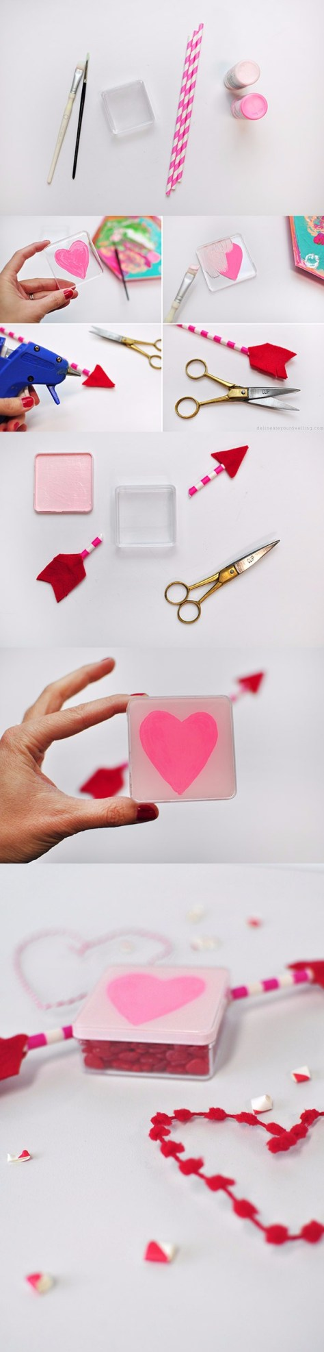 Heart Painted Candy Box Tutorial