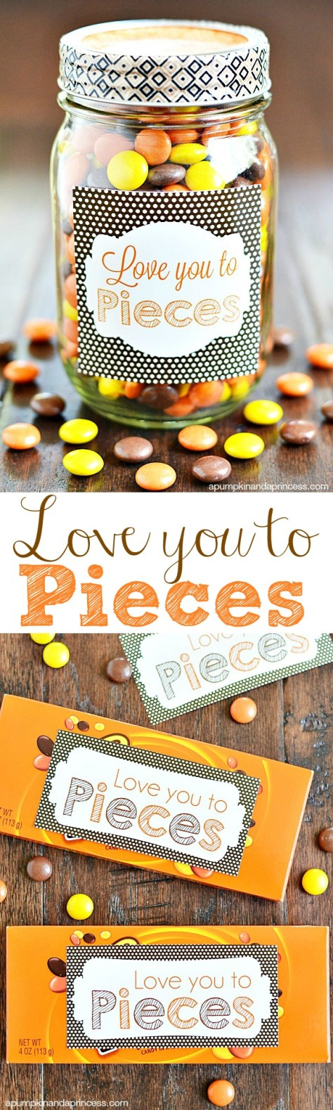 Love You To Pieces Sweets Jar Tutorial