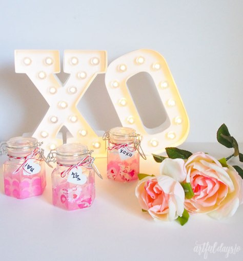 Mini Mason Jar Valentines