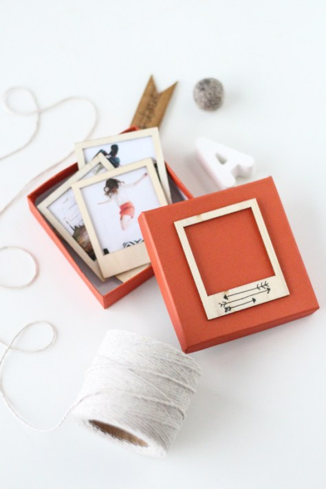 Wooden Polaroid Gift Set