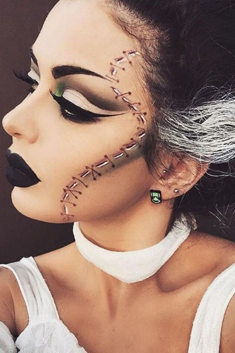 Stitched Face Makeup