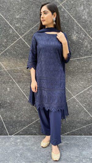 Blue Sequins Suit