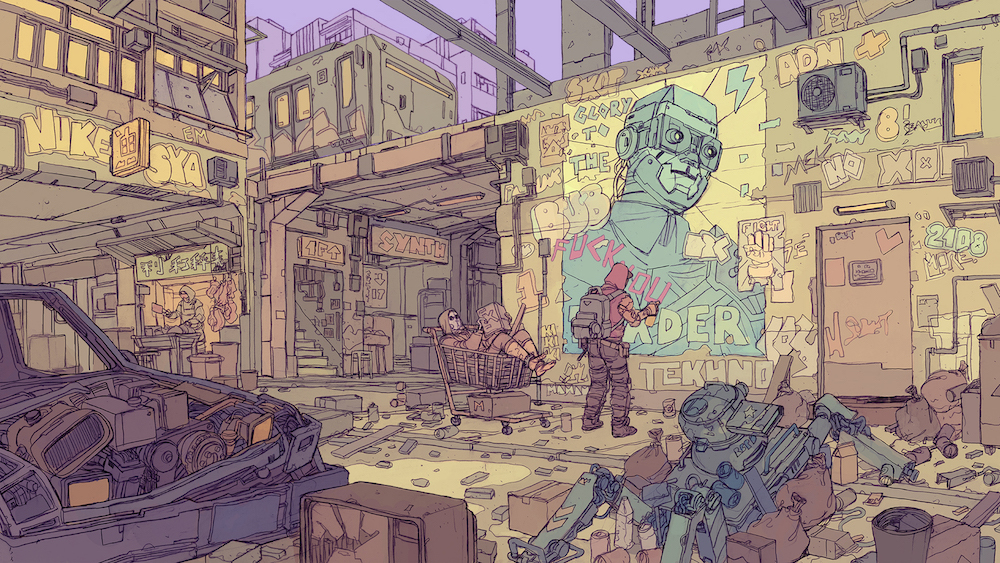Illustrator Deathburger, AKA Josan Gonzalez, is preparing his newest graphic novel, Nightfall.