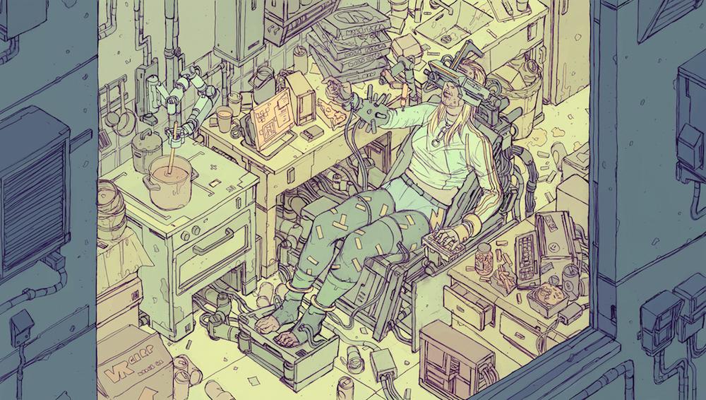 Illustrator Deathburger, AKA Josan Gonzalez, is preparing his newest graphic novel, Nightfall.