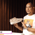 Kayo Casio unboxes the Nike Air Fear Of God moccasins in a particle beige colorway.