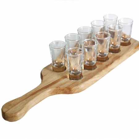 10 Shots Board (Including Glasses)