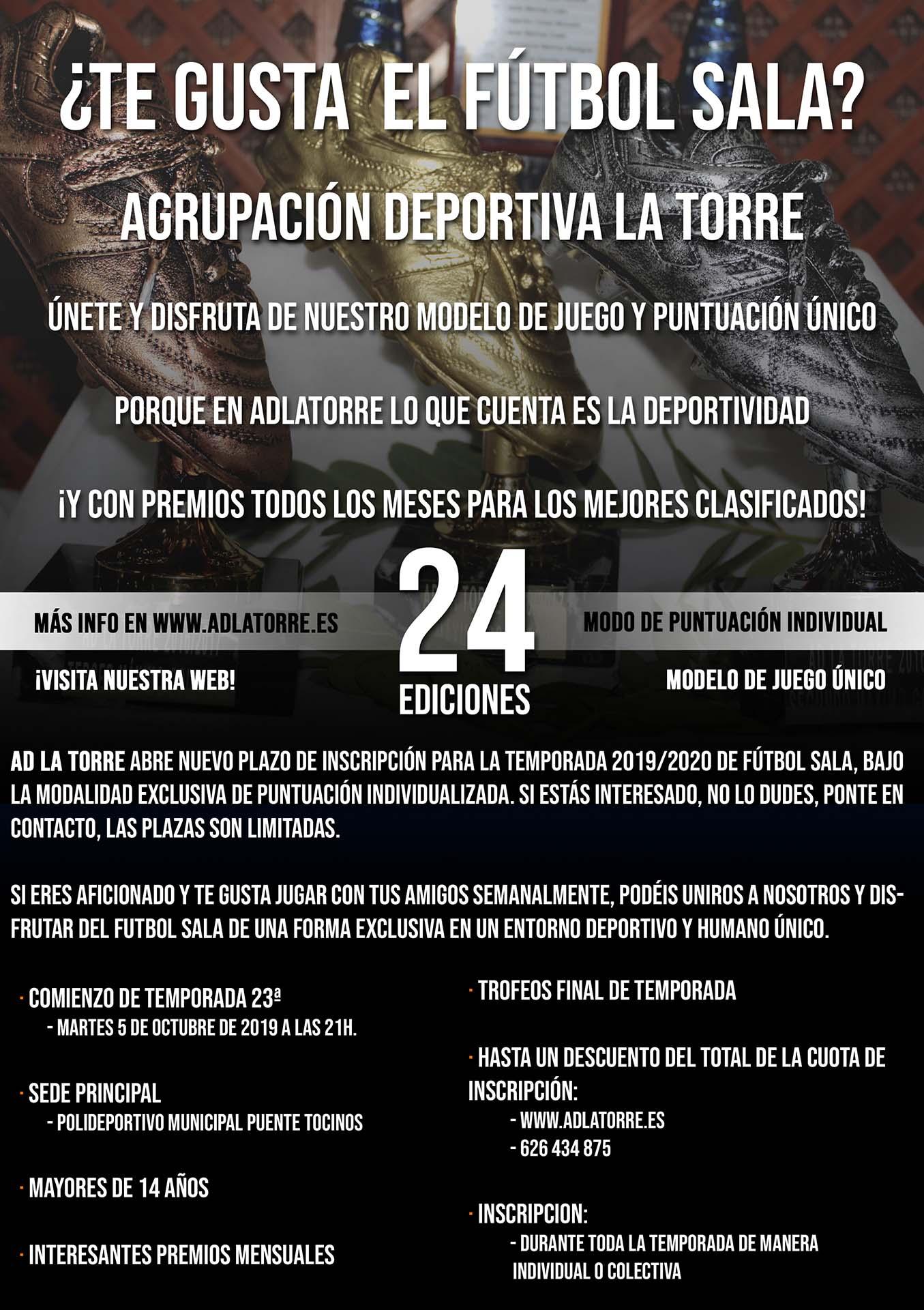 Agrupación Deportiva Fútbol Sala La Torre Temporada 2018/2019