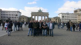 Die Adler am Brandenburger Tor