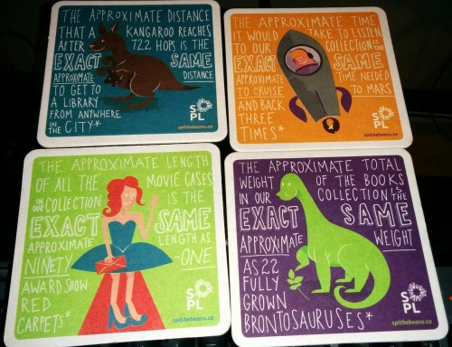SPL drink coasters