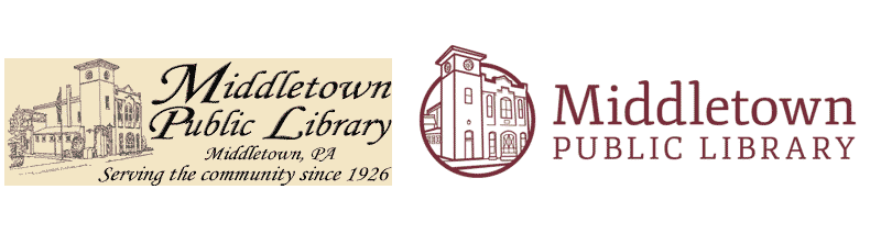 Middletown Publc Library logo before and after
