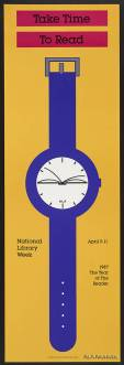 Take Time to Read / National Library Week (1987) / ALA Archives