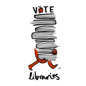 Vote Libraries 2 by Juana Medina