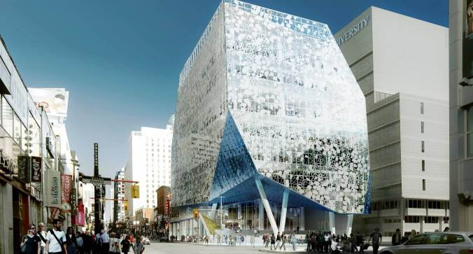 Exterior of Ryerson's Student Learning Centre. Image credit: Snøhetta