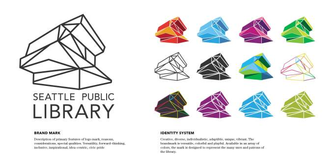 Seattle Public Library Logo Concept. Image credit: Jill Hannay