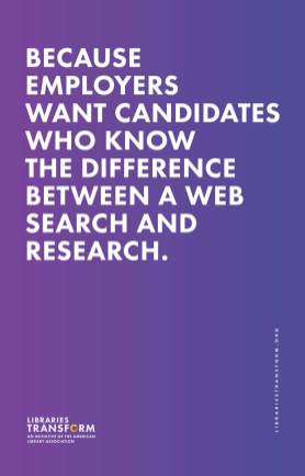 Because employers want candidates who know the difference between a web search and research.