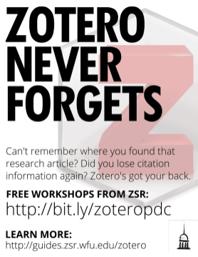 Zotero Never Forgets Poster