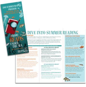 Summer Reading Program - Under the Sea - Oak Park Library