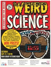 Weird Science Poster - Oak Park Public Library
