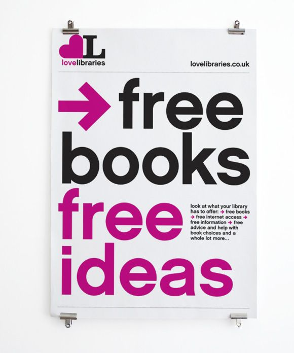 Love Libraries Free Ideas Poster