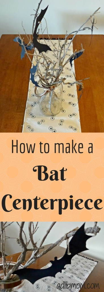 Make a cute bat craft centerpiece. Template included