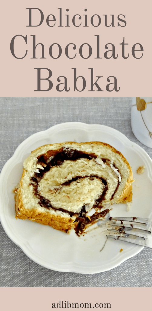Chocolate Babka is a yeast bread that is tender and swirled with chocolate and cinnamon