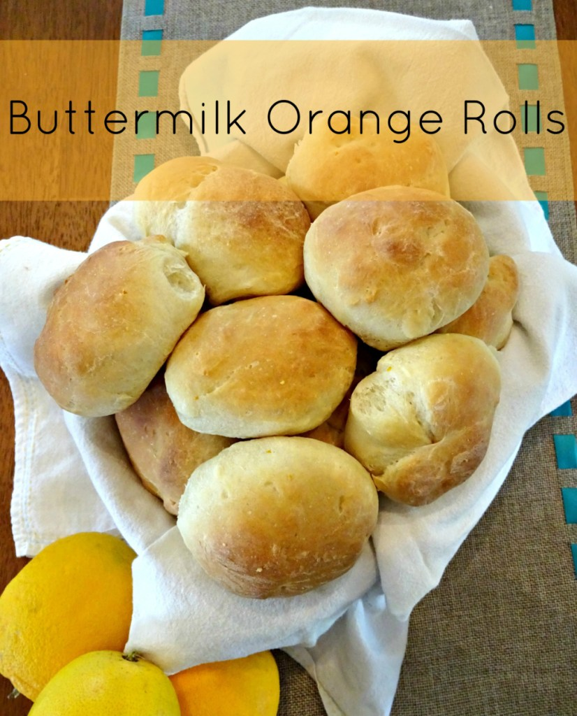 Add something a little extra to your dinner table with these buttermilk orange scented rolls