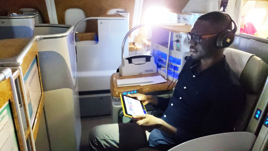 Comfort, excellent service and sheer elegance… onboard the Emirates A380 to Accra