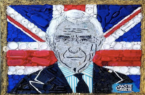 Ghanaian artists present recycled art portrait to Prince Charles