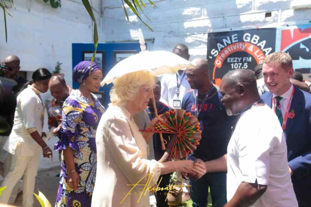 Duchess of Cornwall with Ghanaian boxing legend, Azumah Nelson
