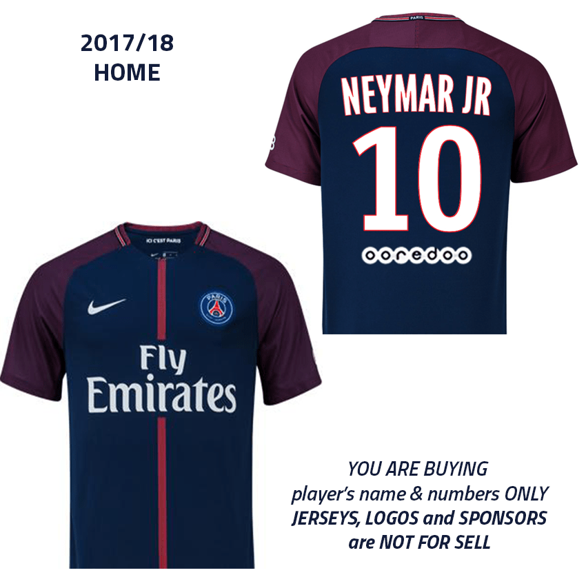 new styles 27ec6 44a63 2017/18 Neymar Jr 10, PSG Ligue 1 home