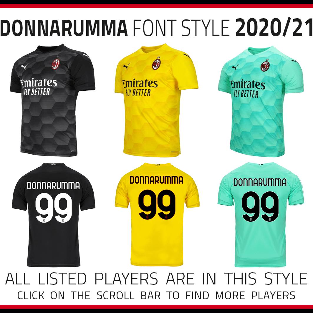 2020 21 Ac Milan Donnarumma Kits Admc Llc