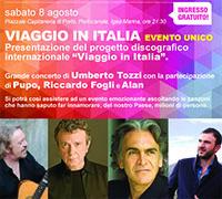 Concerto Viaggio in Italia: Tozzi, Pupo, Fogli a Alan a Igea Marina