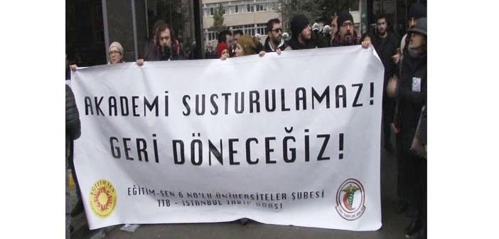 Marmara Üniversitesi'ndeki eyleme saldırı
