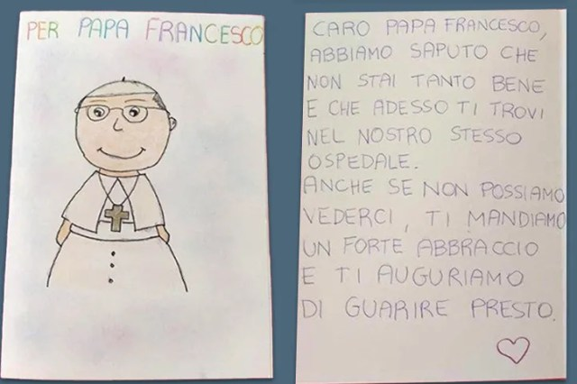 Card for Pope Francis from Children in Gemelli Hospital July 2021 / Vatican Media