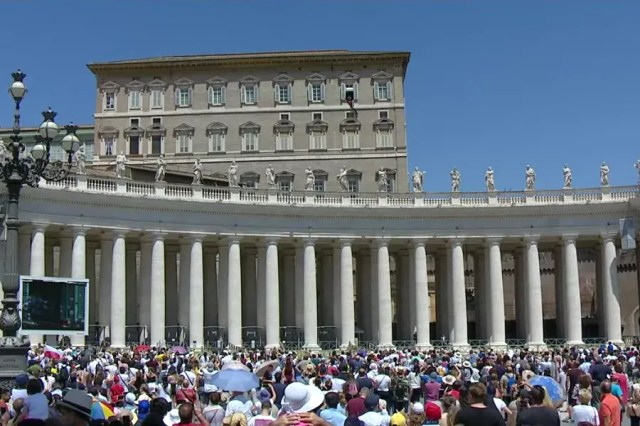 Pope Francis delivers his Angelus address at the Vatican, June 27, 2021. / Screenshot from Vatican News YouTube channel.