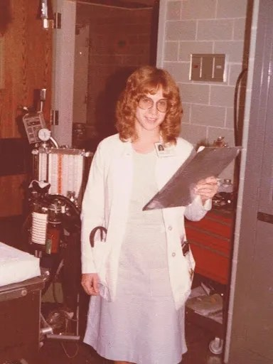 Aultman in the OR during her residency. Kathi Aultman